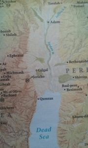 Map of Israel for the crossing into the promise Land